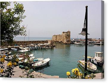 Byblos Waterfront Canvas Print by Tia Anderson-Esguerra