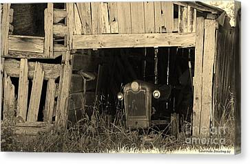 Canvas Print featuring the photograph Bygone Era by Laurinda Bowling