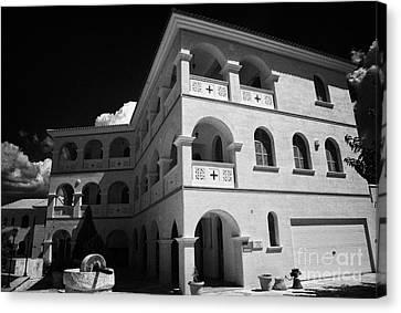Byzantine Museum And Holy Bishopric Of Arsenoe In Peristerona Village Republic Of Cyprus Europe Canvas Print by Joe Fox
