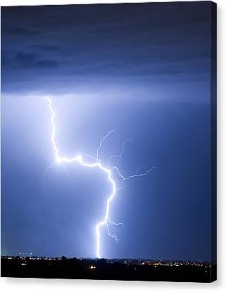 The Lightning Man Canvas Print - C2g Lightning Strike by James BO  Insogna