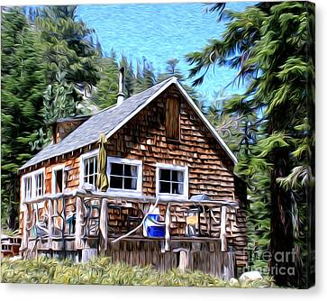 Canvas Print featuring the photograph Cabin By The Lake by Anne Raczkowski