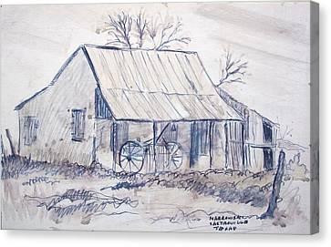 Cabin In Castroville Canvas Print by Bill Joseph  Markowski