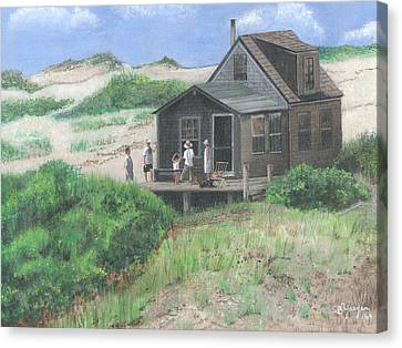 Cabin In The Dunes Canvas Print by Stuart B Yaeger