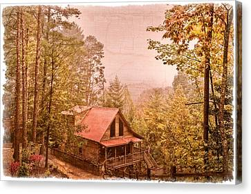 Cabin In The Pines Canvas Print