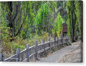Cabin In The Woods Canvas Print by Sarai Rachel