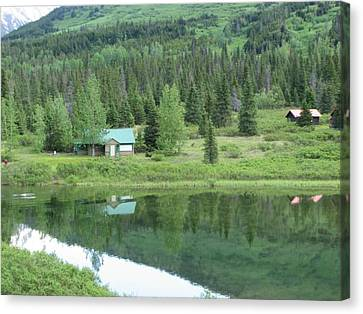 Cabin Living Reflections Canvas Print