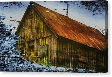 Cabin Reflect Canvas Print by Tom Liesener