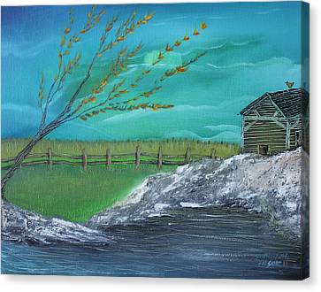 Cabin Canvas Print by Shadrach Ensor