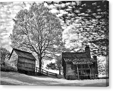 Cabin Under Buttermilk Skies I Canvas Print by Dan Carmichael