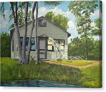 Cabin Up North Canvas Print by Norm Starks
