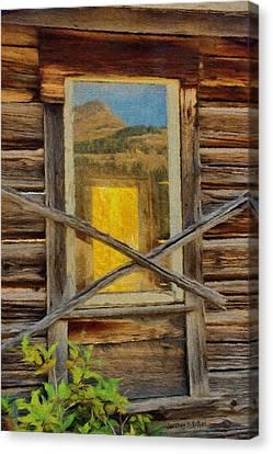 Cabin Windows Canvas Print by Jeff Kolker