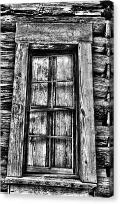 Cabin's Window Canvas Print by Greg Sharpe
