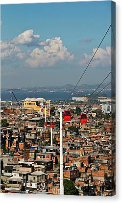 Cable Car Complex Canvas Print by Ruy Barbosa Pinto