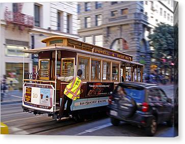 Canvas Print featuring the photograph Cable Car by Rod Jones
