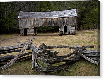 Cable Mill Barn In Cade's Cove No.122 Canvas Print by Randall Nyhof