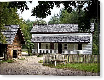Cable Mill Home Place Cades Cove Canvas Print by Mike Aldridge