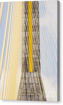 Cables And Tower Of Cable Stay Bridge Canvas Print by Jeremy Woodhouse