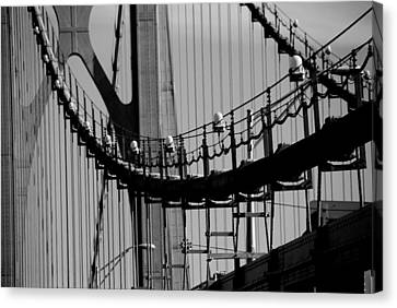Cables Canvas Print by John Schneider