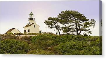 Cabrillo National Park Lighthouse Canvas Print by MaryJane Armstrong