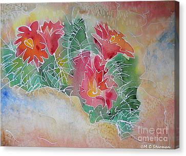 Cactus Art Canvas Print by M C Sturman