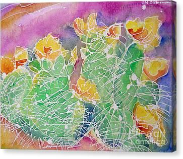 Cactus Color Canvas Print by M C Sturman