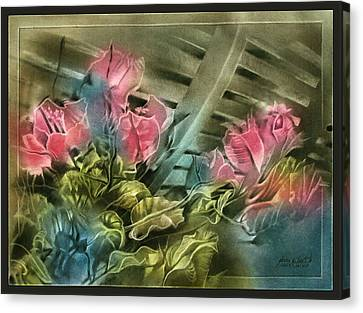 Canvas Print featuring the pastel Cactuscompc 2010 by Glenn Bautista