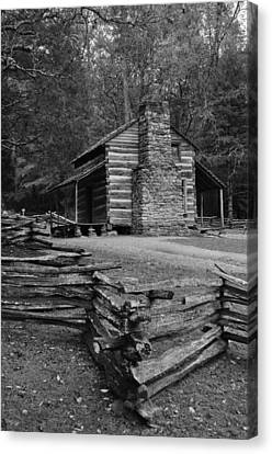 Cades Cove Cabin Canvas Print by Jeff Moose