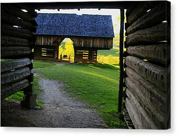 Canvas Print featuring the photograph Cade's Cove Cantilever by Doug McPherson