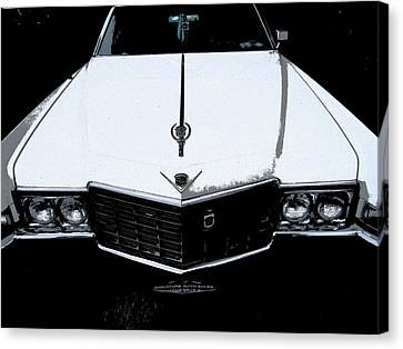 Canvas Print featuring the photograph Cadillac Pimp Mobile by Kym Backland