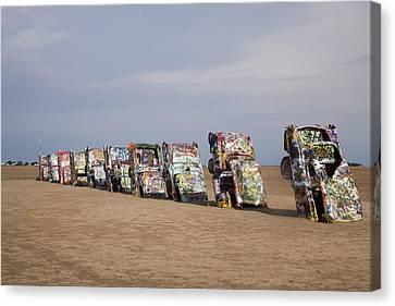 Cadillac Ranch Is A Public Art Canvas Print