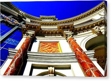 Canvas Print featuring the photograph Caesars Palace Architecture by Linda Edgecomb