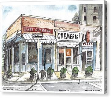 Cafe Charbon Nyc Canvas Print