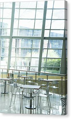 Cafe In Office Building Canvas Print by Dave & Les Jacobs