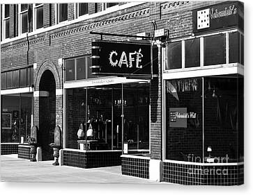 Canvas Print featuring the photograph Cafe by Lawrence Burry