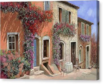 Caffe Sulla Discesa Canvas Print by Guido Borelli