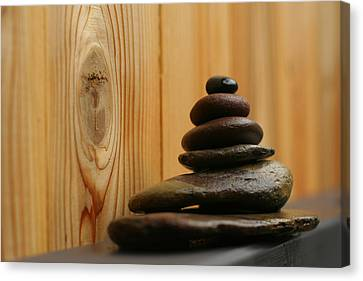 Cairn Meditation Stones Canvas Print by Heidi Hermes