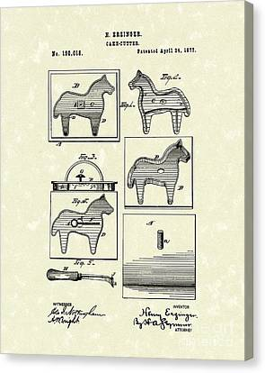 Cake Cutter 1877 Patent Art Canvas Print by Prior Art Design