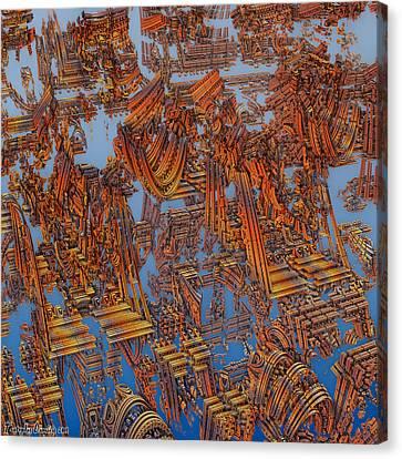 Calcutta Temple Goes To Heaven. Canvas Print by Tautvydas Davainis