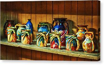 Calico Pottery Canvas Print by Brenda Bryant