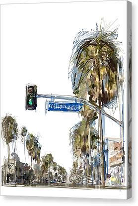 California Ave. Canvas Print