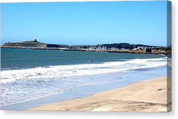 California Beach At El Granada Canvas Print by Carolyn Donnell