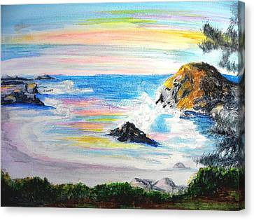 California Coast Canvas Print by Susan  Clark