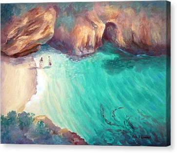 China Cove Canvas Print - California Dreaming by Karin  Leonard