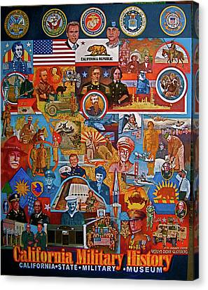 California Military History Mural Upgrade Canvas Print by Dean Gleisberg