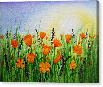California Poppies Field Canvas Print by Irina Sztukowski