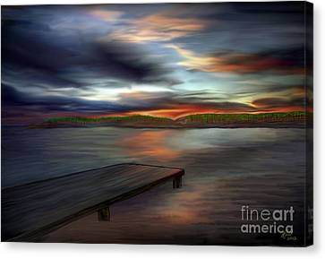 Canvas Print featuring the painting California Sky by Rand Herron