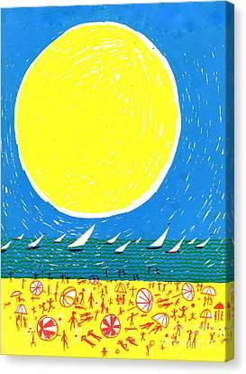 California Sun Canvas Print by Donovan OMalley