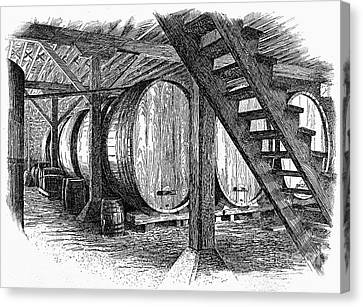 California: Winery, C1890 Canvas Print by Granger