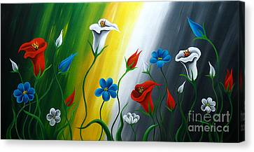 Calla Lilies Canvas Print by Uma Devi