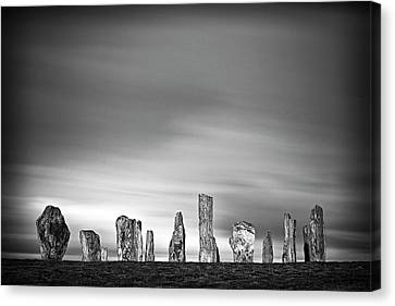 Callanish Standing Stones Canvas Print by Doug Chinnery
